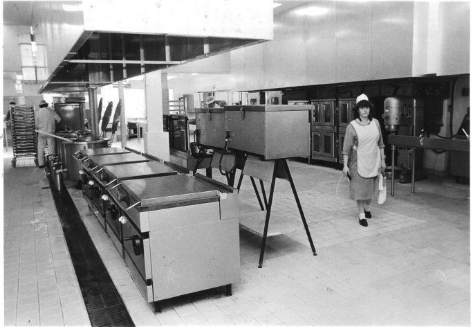 The kitchens, taken in 1987.