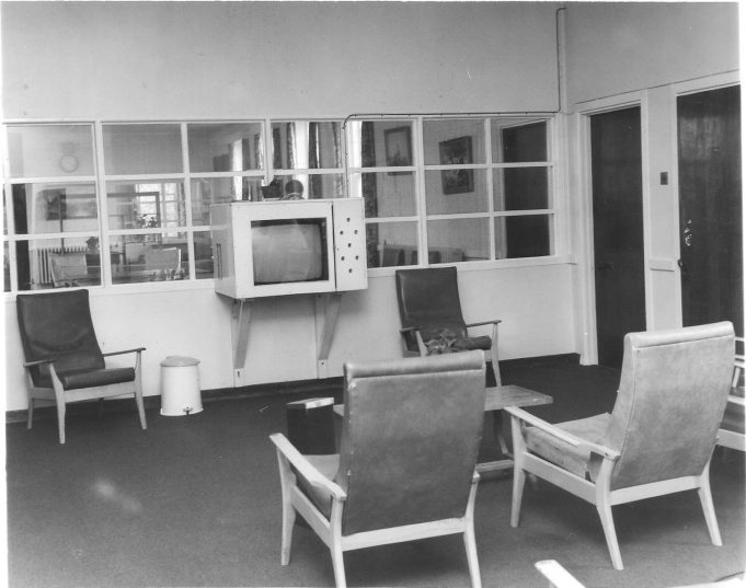 A television area. (1980)