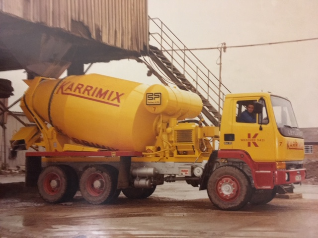 Carrying ready-mixed concrete in later years. | Peter Carter