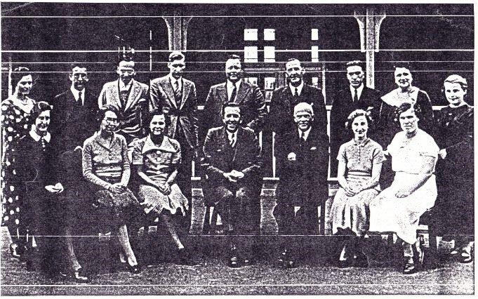 Teachers of Wickford Senior School, 1937