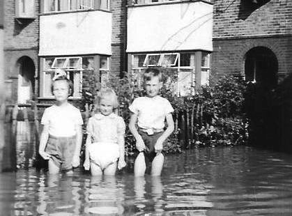 Photographs of the 1958 Wickford Flood.