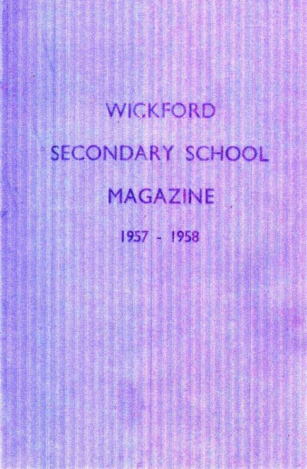 Wickford Secondary School magazine, 1957-58