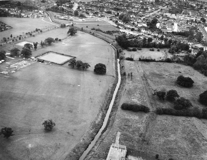 Aerial View of the Memorial Park and the Crouch | From the 'Echo' archives.