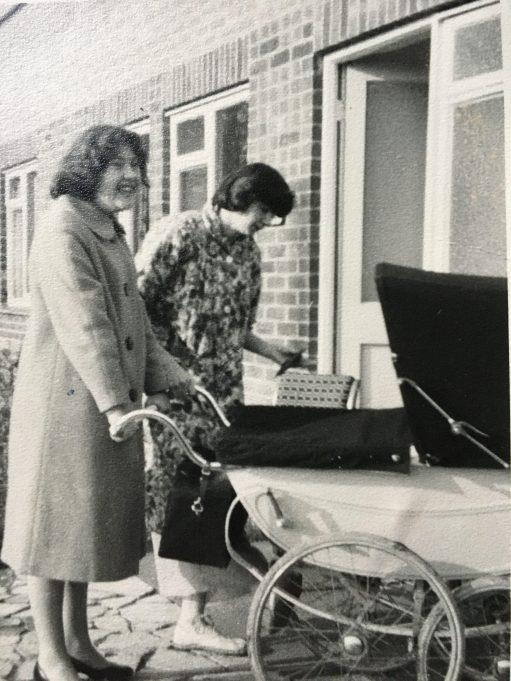 Daphne White with Deidre Poole.
