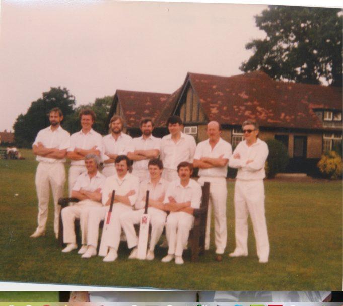Runwell Cricket Club Team 1983 (just before initial match)
