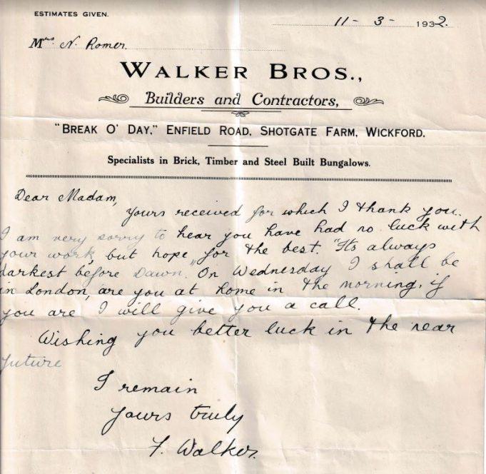 Walker Bros., (Shotgate).