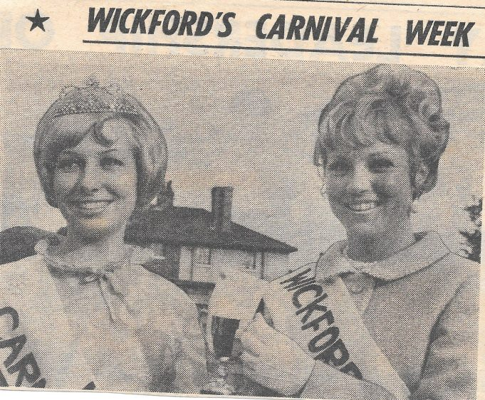 1967 Carnival Queen Ann Camp and Princess Sonia Martin
