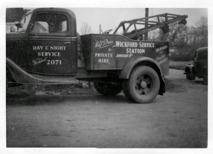 A Ford Model 51 1936, Service Car (break Down) belonging to Wickford Service Station.