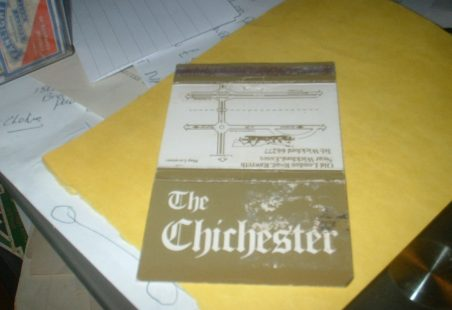 The Chichester matchbook