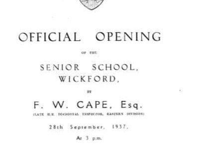 The origins of Wickford Senior School, Market Road