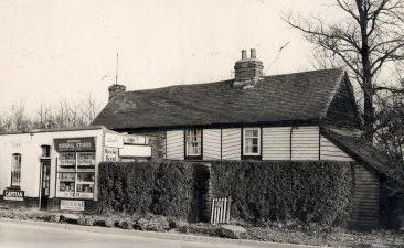 The post office and May Cottage in Nevendon Road.