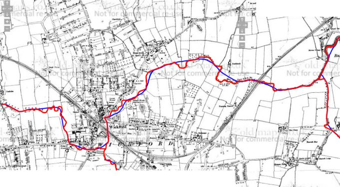 The River Crouch through Wickford - its altered course.