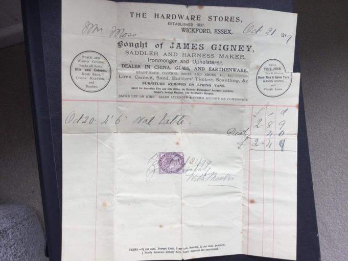 James Gigney sales receipts