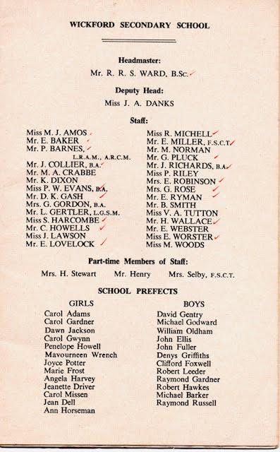 Wickford Secondary School Magazine 1958-59